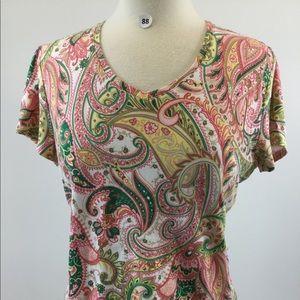 Croft & Borrow Paisley Shirt Size XL (B-88)